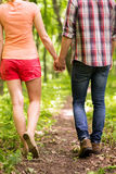 Walking in a park together. Royalty Free Stock Image
