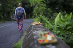 Walking past offers on Bali Royalty Free Stock Images