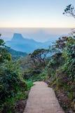 Path from Adams peak, Sri Lanka. Walking path from Adams peak at sunrise, Sri Lanka Stock Image