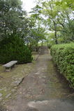 Walking Path. Around Osaka Castle Park Japan Royalty Free Stock Photos