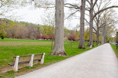 Walking Path Around Public Park Royalty Free Stock Images