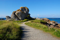 walking path, bretagne, france Stock Photo