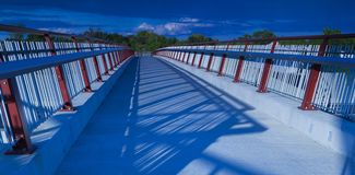 Walking Path Bridge Stock Image