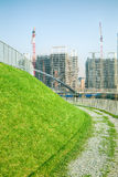 Walking path and construction site Stock Photos