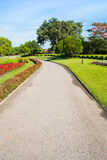 Walking path in the garden of Suan Luang Rama 9 park, Thailand Royalty Free Stock Photography