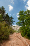 Walking path in the Haute Provence Royalty Free Stock Images