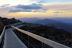 Walking Path at Kunyanyi, Mount Wellington, Tasmania, Australia. A walking from Kunyanyi, Mount Wellington, Hobart, Tasmania, Australia Royalty Free Stock Photos