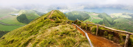 Walking path leading to  the lakes of Sete Cidades Stock Photography
