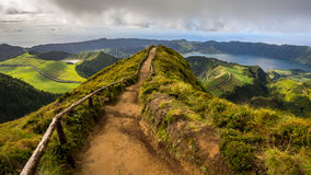 Walking Path Leading to a View on The Seven Cities Lakes. Sao Miguel Island, Azores, Portugal Stock Photography