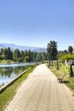 Walking path in Mendoza, Argentina. Walking path near the lake of Mendoza, Argentina Stock Photos