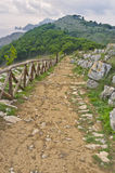 Walking Path, Monte San Constanza, Italy. A rocky dirt walking path on Monte San Constanza, on the Sorrento Coast, Amalfi Coast, at the tip of the Sorrento Royalty Free Stock Photography