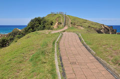 Walking path with ocean view at Cape Byron Stock Photography