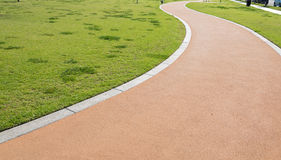 A walking path in a park Royalty Free Stock Image