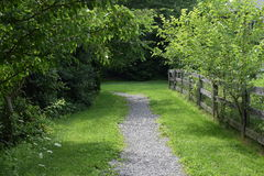 Walking Path in Perspective Stock Photo