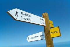 Walking Path signposts Stock Photo