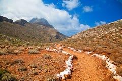 Walking Path to Balos Beach Stock Photos