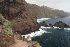 Walking path to Playa Nogales, La Palma, Canary Is Royalty Free Stock Images
