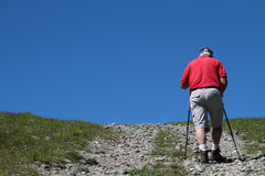 Walking on path to the top Royalty Free Stock Photo