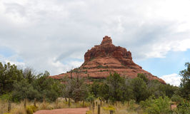 Walking path up to Bell rock vortex in Sedona, Arizona Royalty Free Stock Images