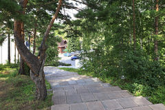 Walking paths in the Sanatorium Russia Royalty Free Stock Photography