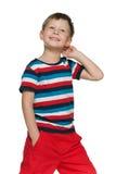 Walking pensive boy Stock Image