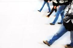 Walking people Royalty Free Stock Image