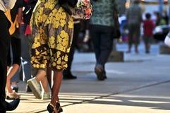 Walking people Stock Images