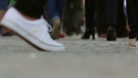 Walking people crowd stock footage