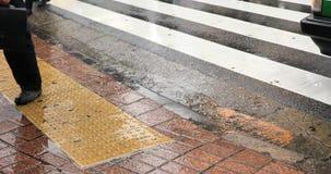 Walking people at Shibuya crossing in Tokyo rainy day. Walking people at the crossing in Tokyo rainy day. Shibuya-ku Tokyo Japan - 02.28.2019 : It is walking stock footage