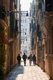 Walking people in Venice Royalty Free Stock Images