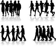 Walking People-  work 1 Royalty Free Stock Photos