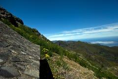 Walking on Pico Ruivo Stock Photo