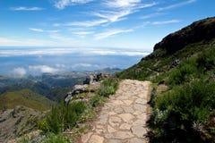 Walking on Pico Ruivo Royalty Free Stock Photos
