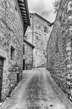Scenic streets of the medieval town of Assisi, Umbria, Italy Royalty Free Stock Photos