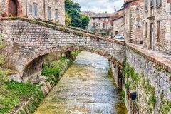Scenic streets of the medieval town of Gubbio, Umbria, Italy Royalty Free Stock Photo