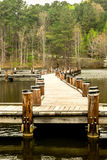 Walking Pier Over Calm Waters Stock Photography