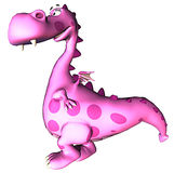 Walking Pink dragon baby dino Stock Images