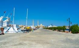 Walking in port Stock Photo