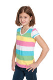 Walking pretty preteen girl Stock Photography