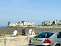 Walking the Prom.Weston-Super-Mare. Royalty Free Stock Photos