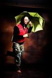 Walking in the rain Royalty Free Stock Photo
