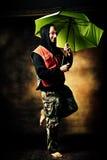 Walking in the rain Stock Photography