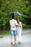 Walking in the rain Stock Photos