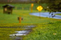 Walking after the rain clears Royalty Free Stock Image