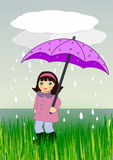 Walking in the Rain Royalty Free Stock Photography