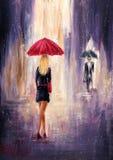Walking in the rain Royalty Free Stock Photos