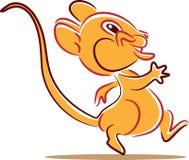 Walking rat. Funny cartoon clip art image Royalty Free Stock Images
