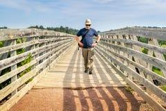 Walking on recreational Cowboy Trail in northern Nebraska Stock Photography
