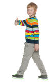Walking red-haired boy Royalty Free Stock Image