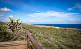 Walking the red route - Chritsoffel Park ocean view Royalty Free Stock Images